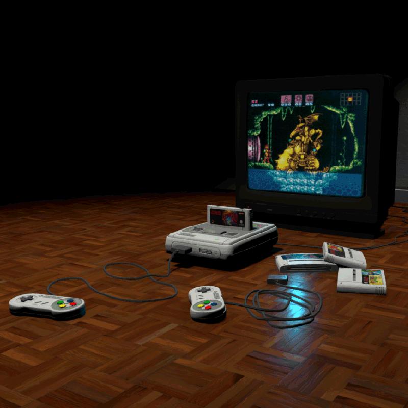 Super Nintendo Props 3D Model