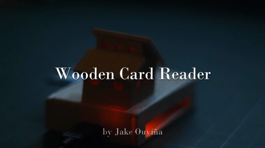 Wooden Card Reader